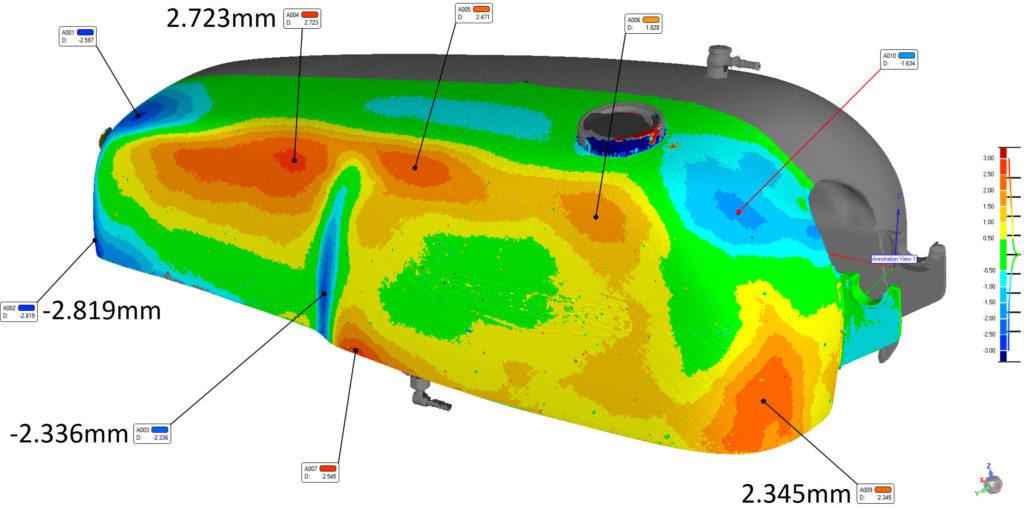 Aermacchi tank 3D compare