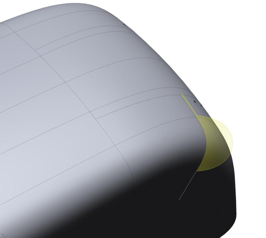 Aermacchi tank curvature plot