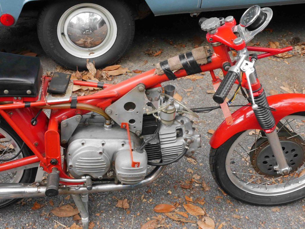 Harley-Davidson Aermacchi CRTT frame with bare engine