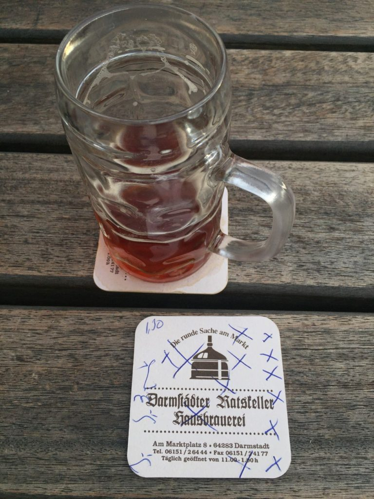 They keep track of your beers with 'X' on the beer coasters.