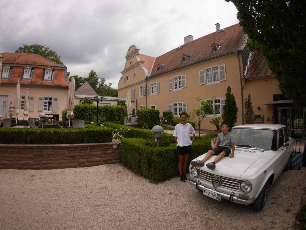 Sweet hotel, wife, boy and car.