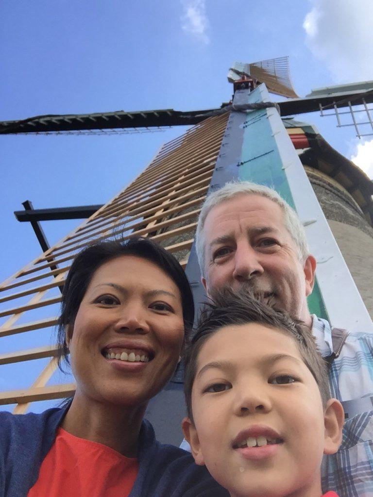 Windmill selfie.