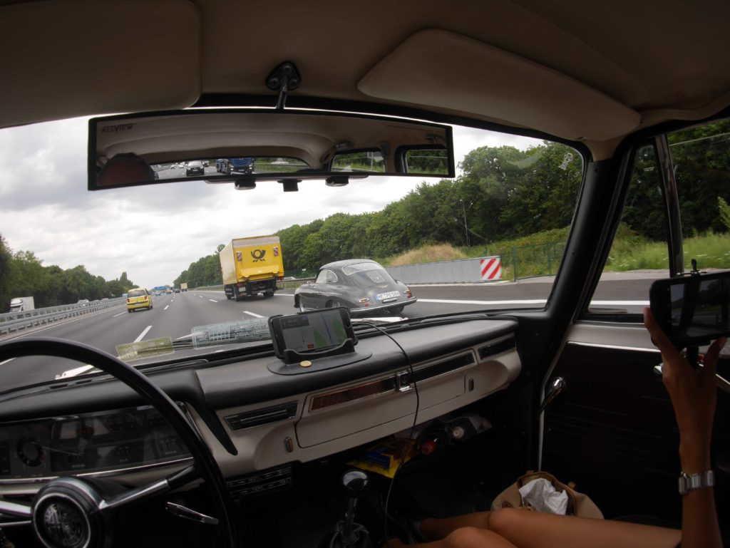 A Porsche 356 spotted on the Autobahn.