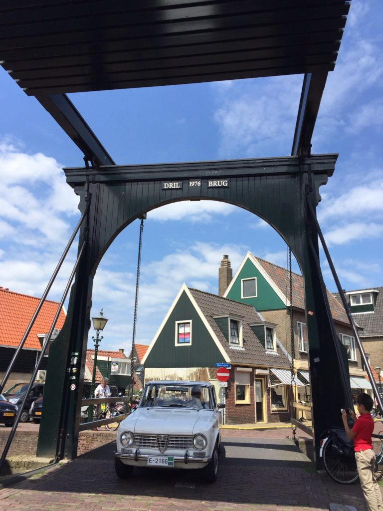 Draw bridge in Volendam.