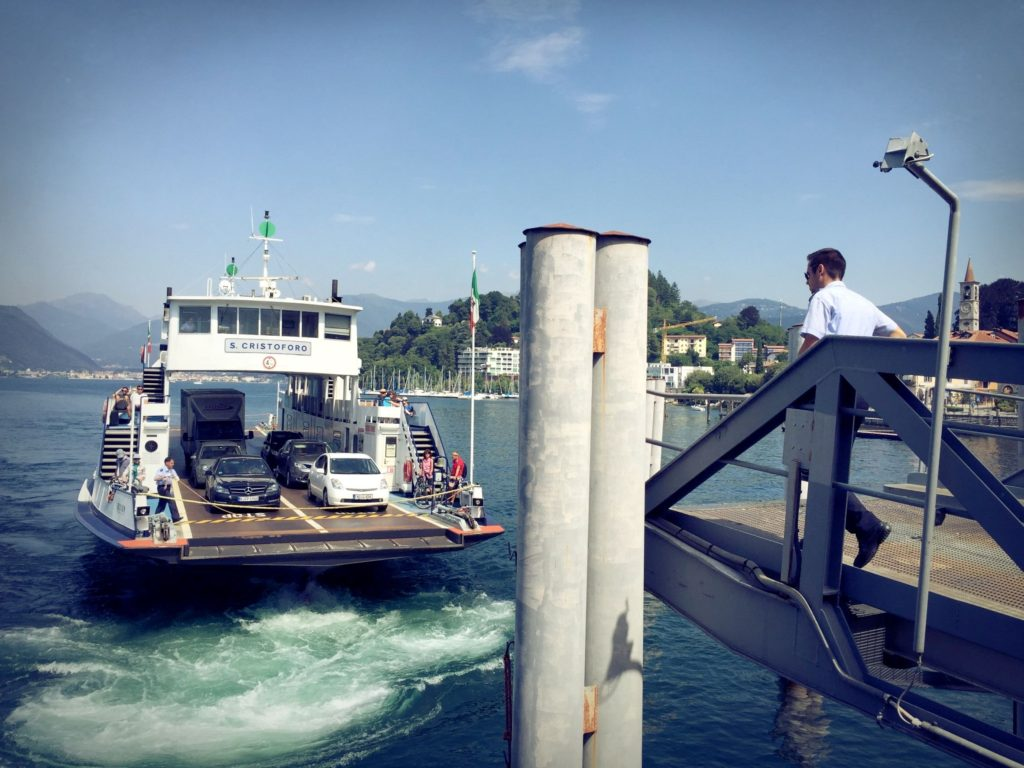 This is the erry coming to pick us up and take us across Lake Maggiore. Gateway to Switzerland.