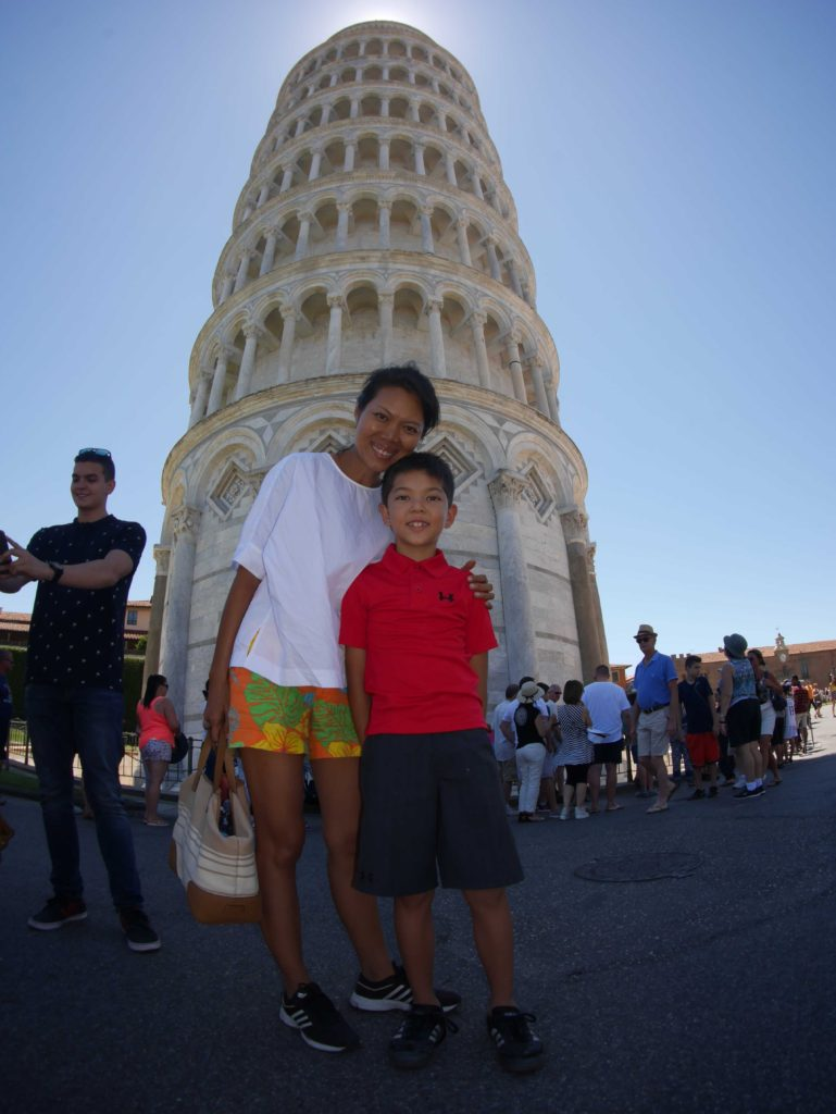 Wide angle view of Pisa. Not too many taking this photo!