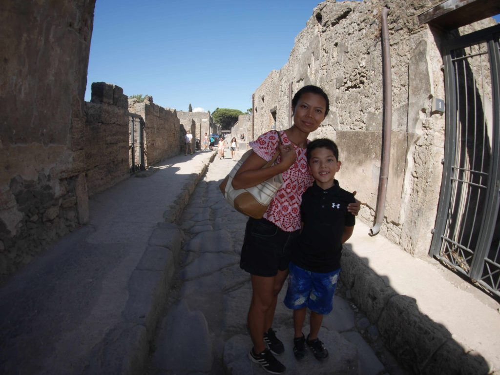 Pompeii is very big. Endless alleys to get lost in.
