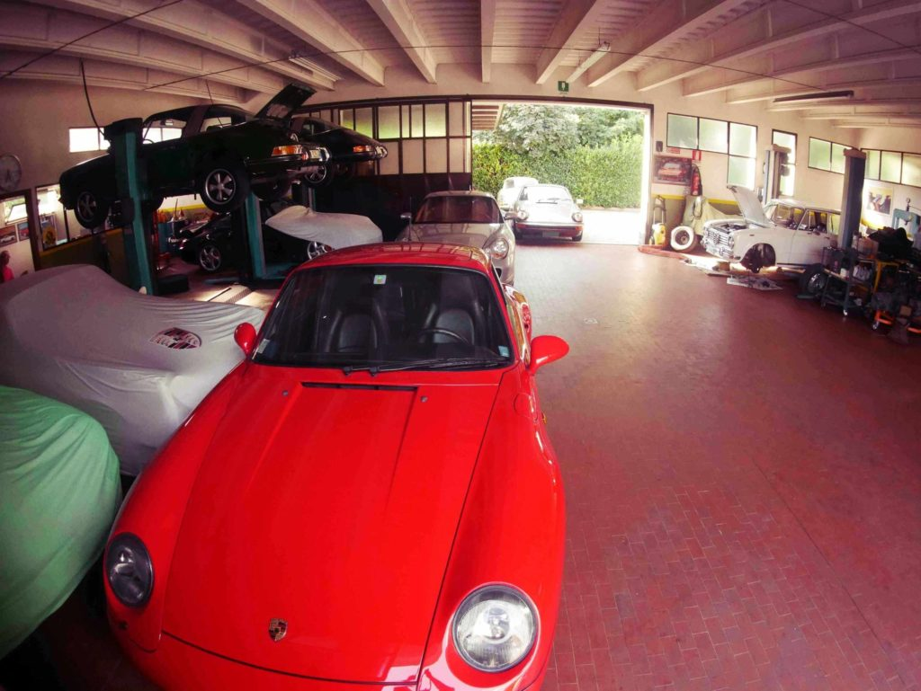 Mario's garage. Only one Alfa Romeo here!