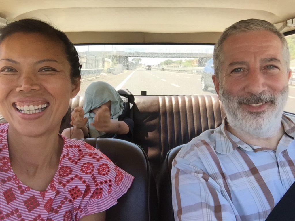Happy days, on our way to Vesuvius