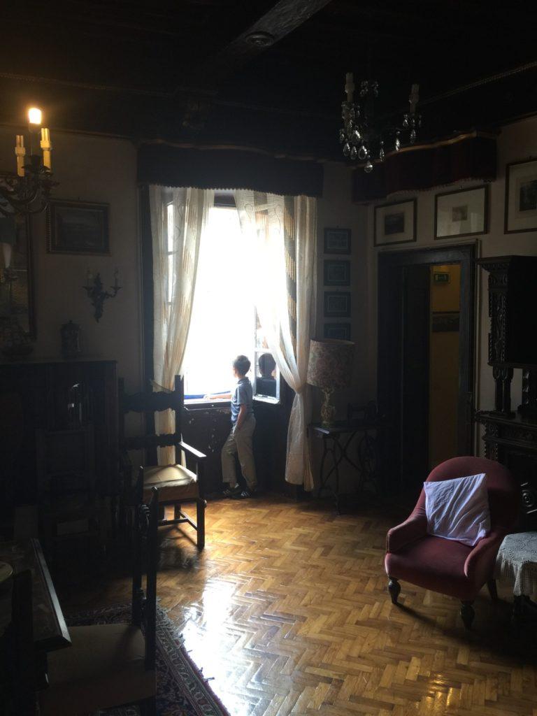 The reception room, Albergo Anna.