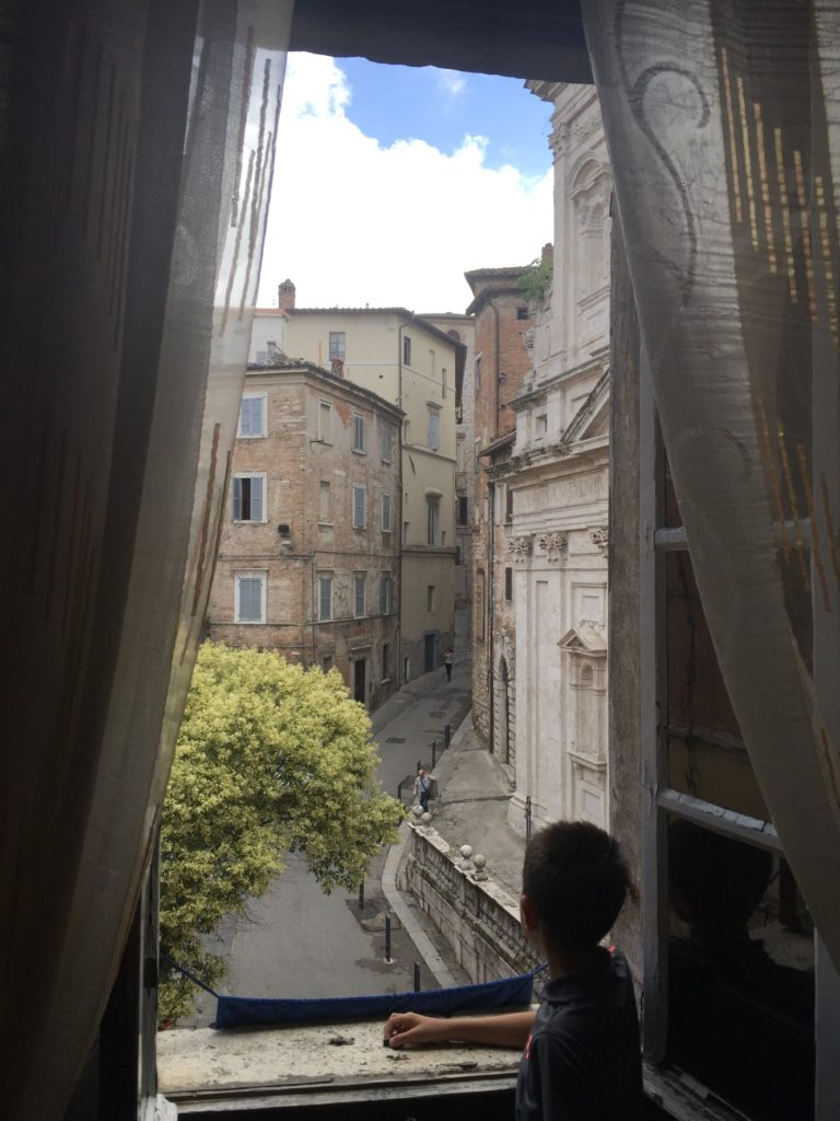 View from the front room of Albergo Anna.