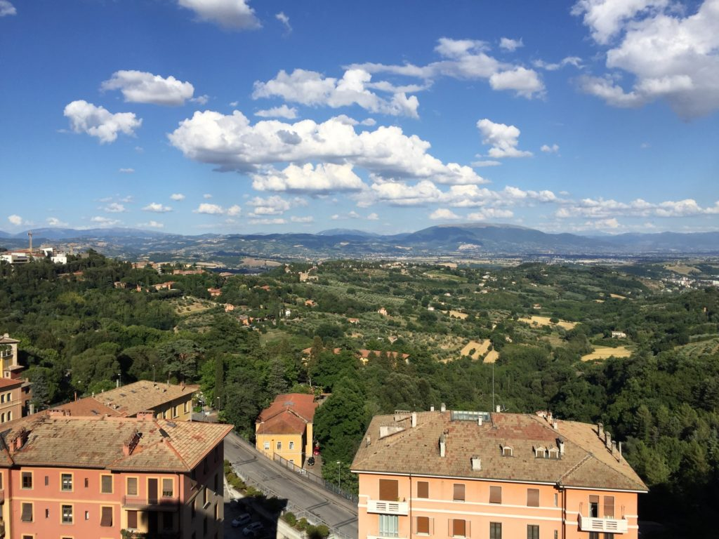 View from downtown Perugia. Yep. Amazing.