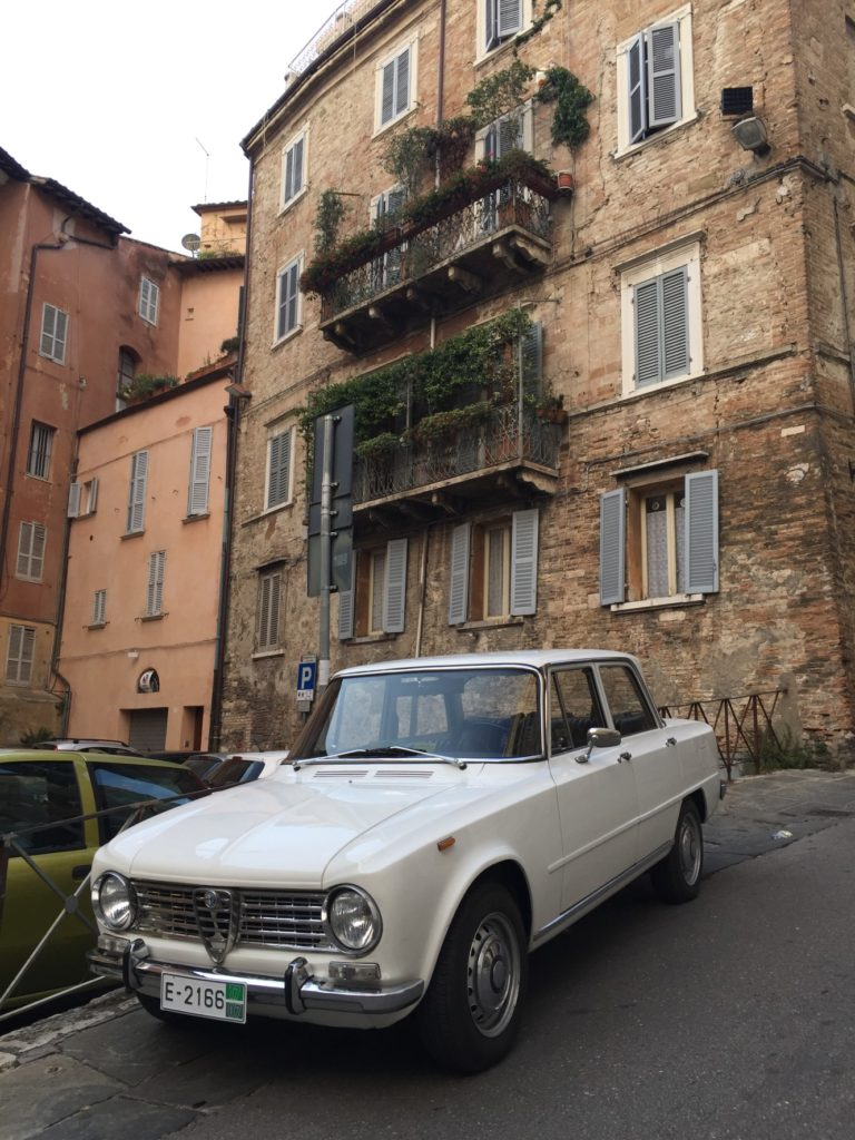 1966 Alfa Romeo Giulia Perugia Part 3 Global Dimension Umbrella The In Front Of Hotel Parked On Street