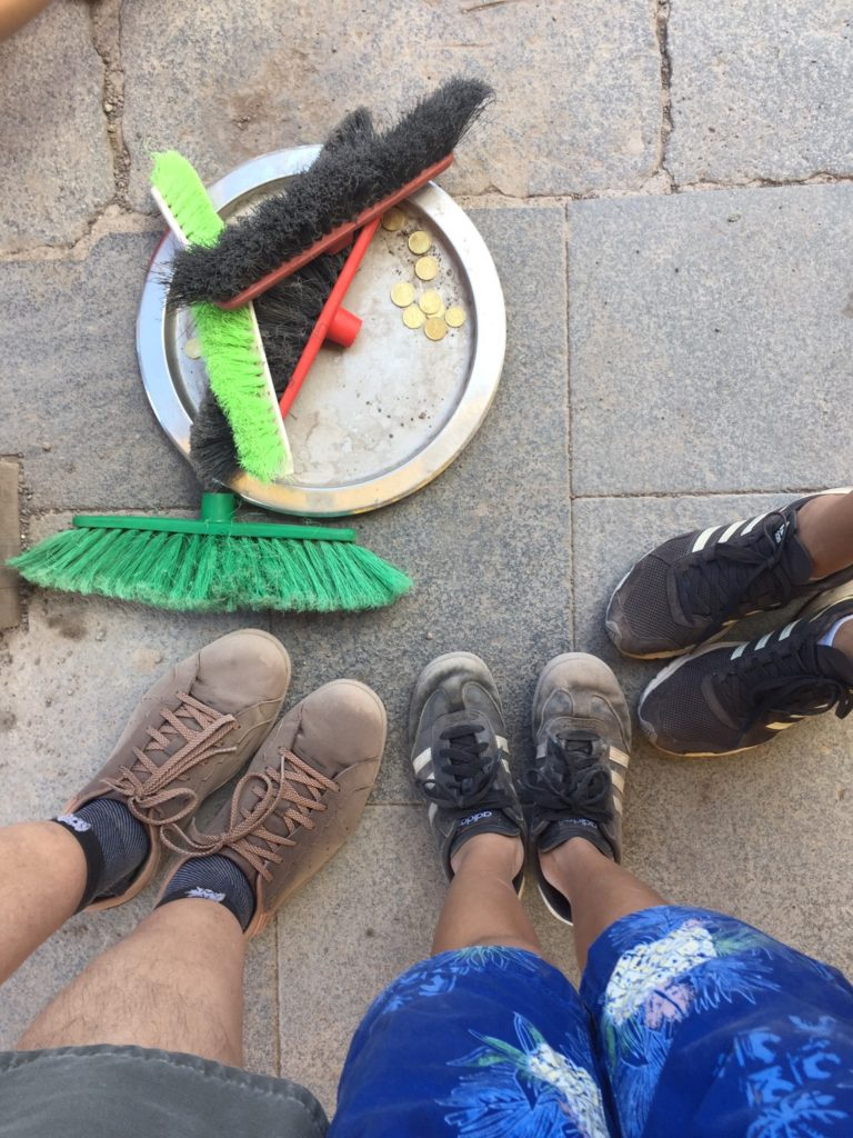The Vesuvius trail is very dusty. These brushes are at the end of the trail.