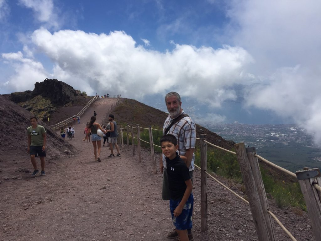 Vesuvius Trail, it was so beautiful everywhere.