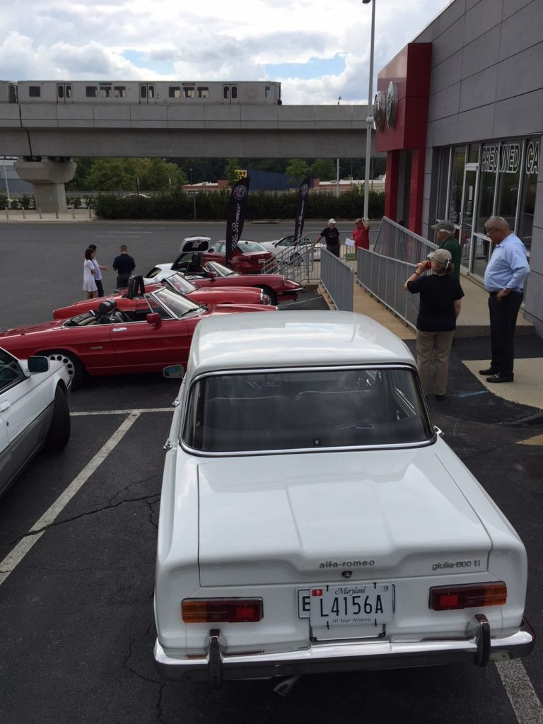 Alfa Romeo club meeting at Alfa dealer in Tyson's Corner.