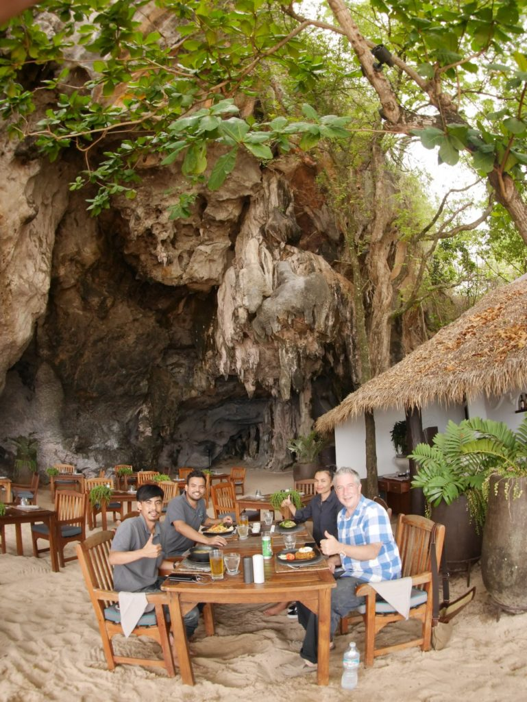 The Grotto Restaurant at Railay Beach is a natural cave. What a treat!