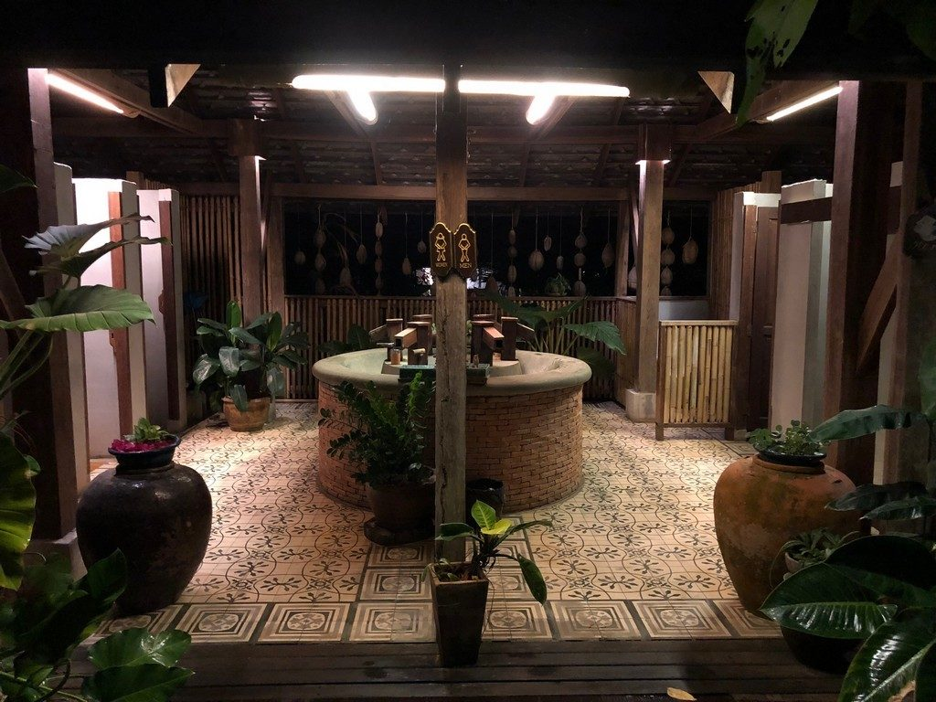 Bathroom obsessed - night view. So lovely.