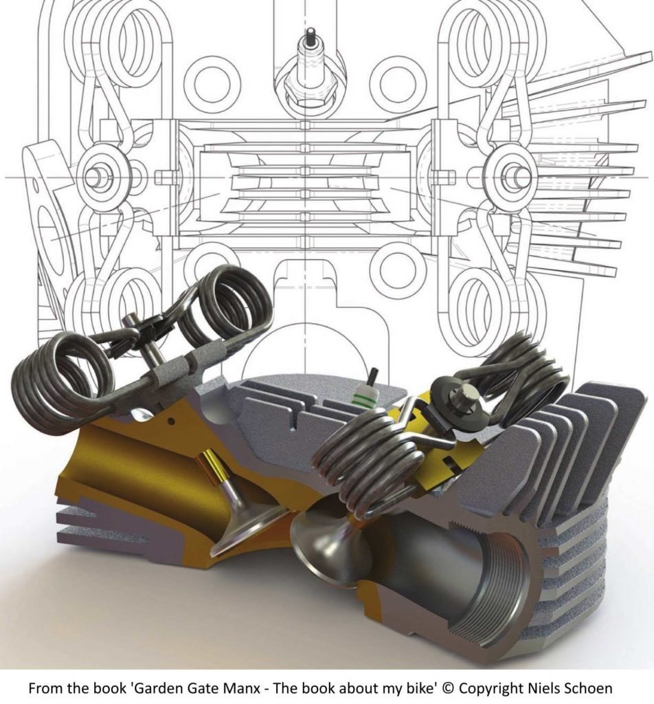 Norton Manx cylinder head - page 44 - reverse engineering in SolidWorks