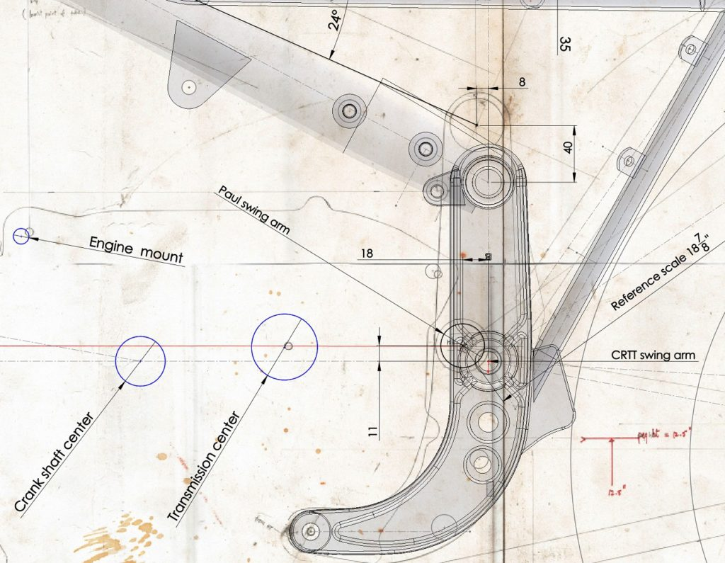 Figure 4: Paul's paper plans and the CAD drawing zoomed in for critical measurements.