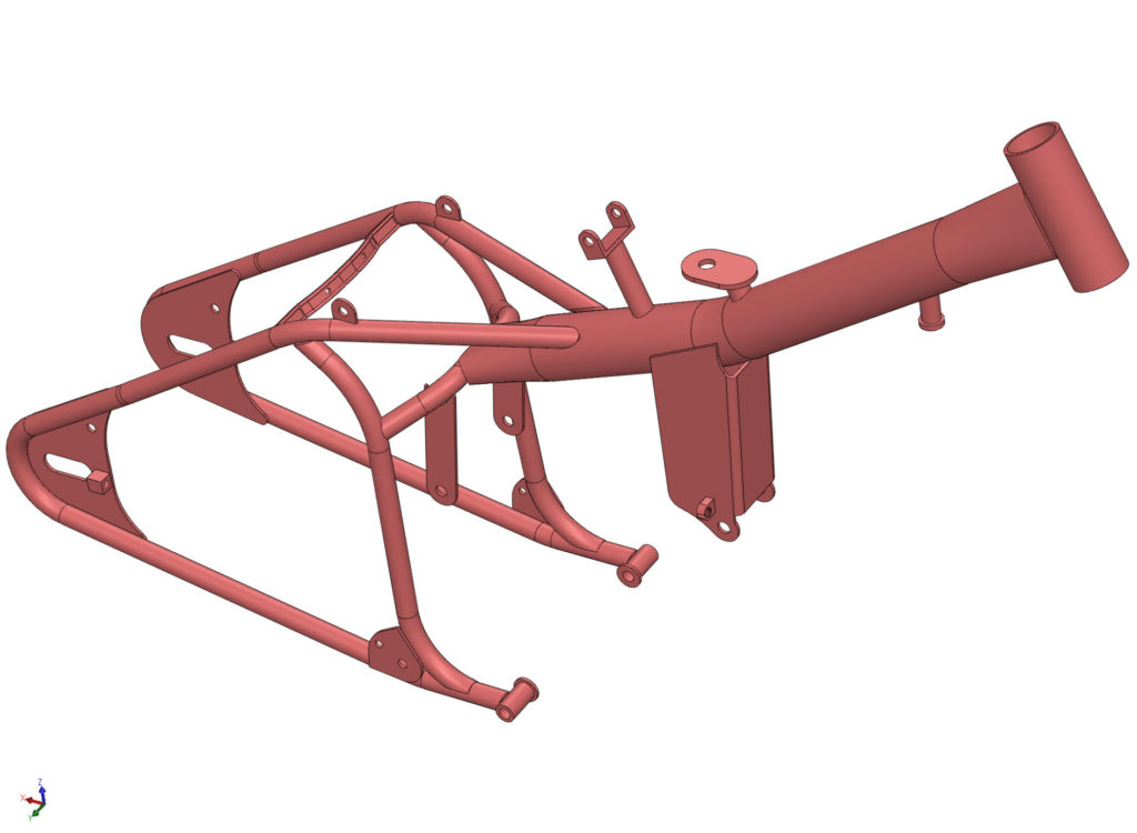 Render of complete Aermacchi hard tail frame.