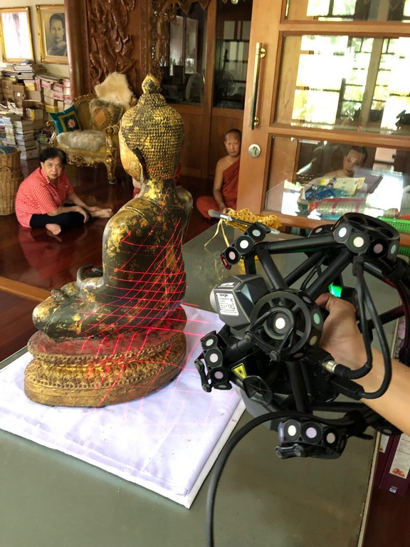 3D scan Creaform Metra Buddha by Global Dimension