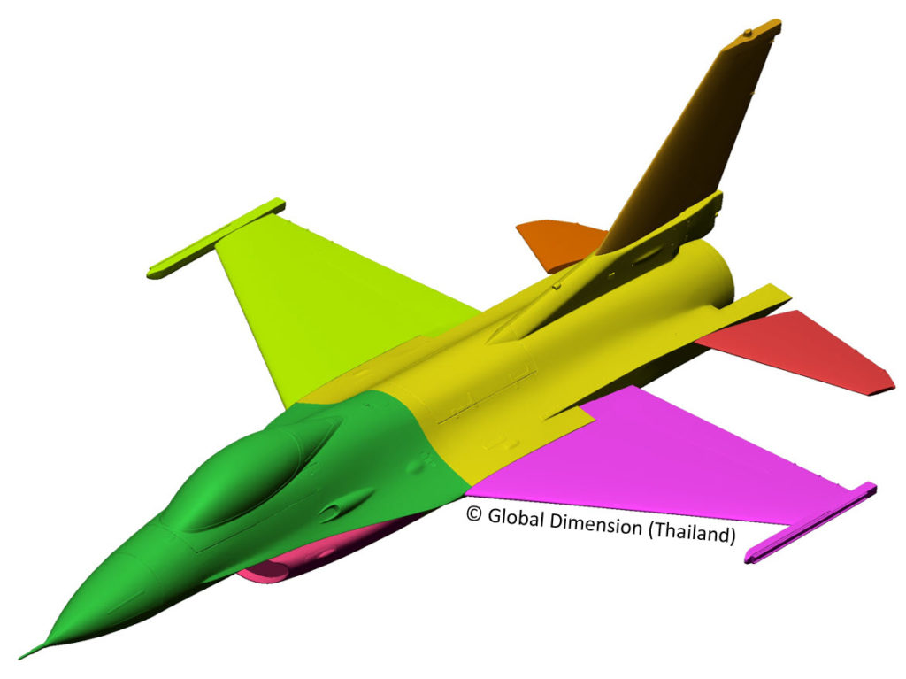 F-16 scanned model using Creaform, Geomagic, DesignX, Wrap,SolidWorks