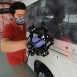 3D laser scan of Toyota van for custom ambulance interior