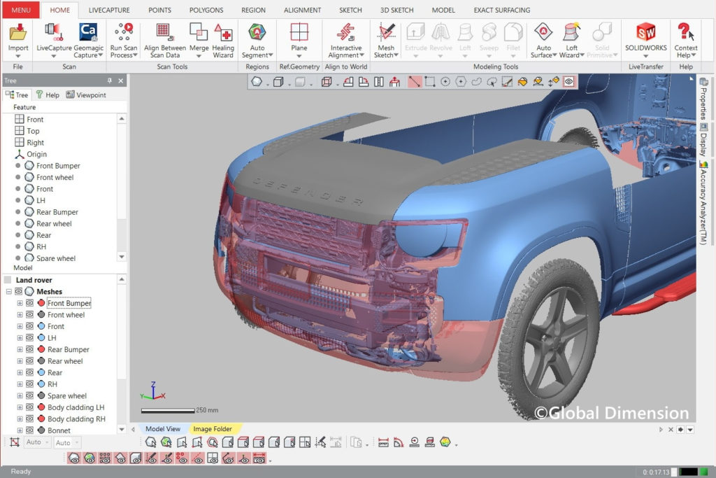 3D Systems Geomagic DesignX and the Land Rover Defender 2020.