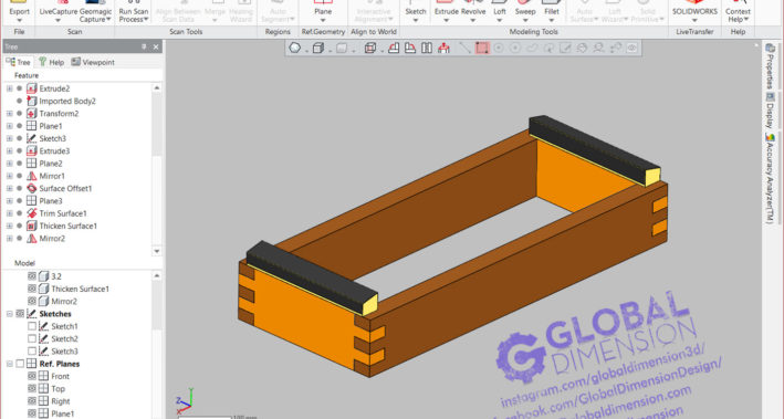 We use 3D Systems Geomagic DesignX for this drawing.