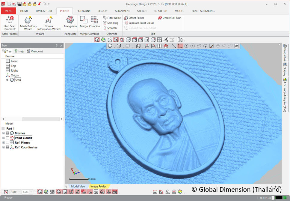 3D Systems Geomagic DesignX, SolidWorks, and the amulet of Luang Phor Phat