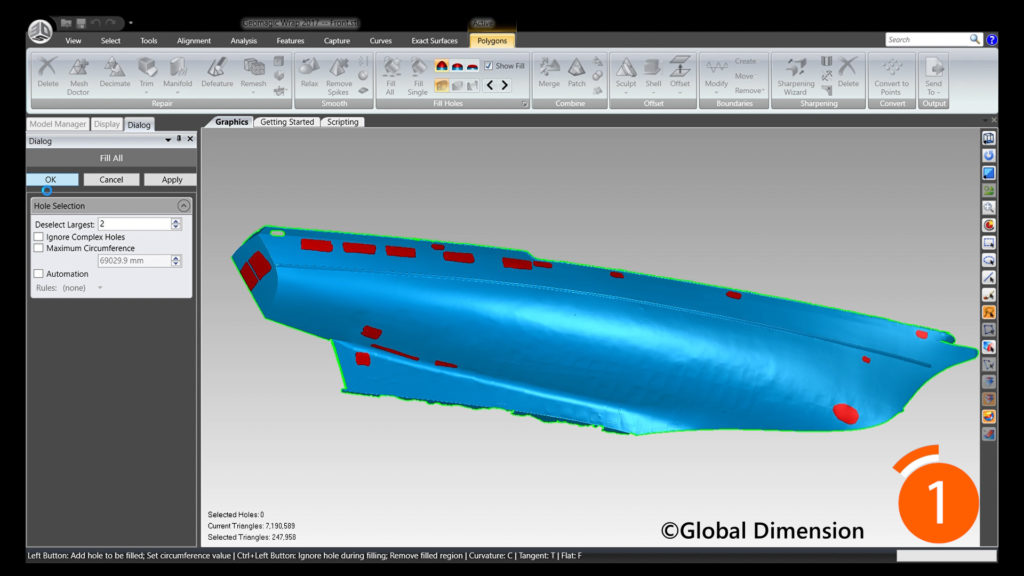 We used Creaform Metra for 3D scanning, 3D Systems Geomagic Design X, Wrap, and Solidworks.